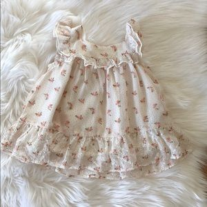 Baby girl baby gap dress 0-3 months floral